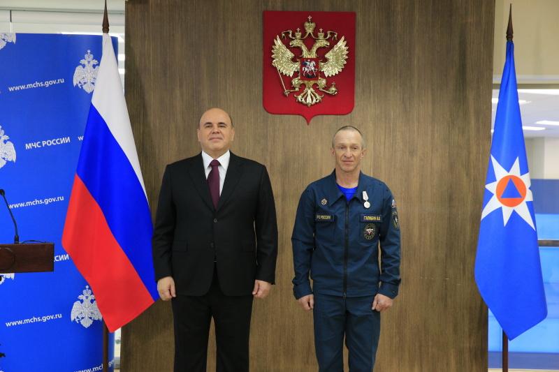 Михаил Мишустин наградил спасателя из Карачаево-Черкесии медалью «За спасение погибавших»