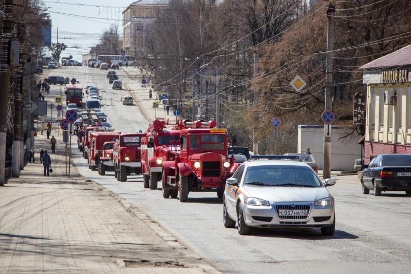 Парк пожарной ретротехники