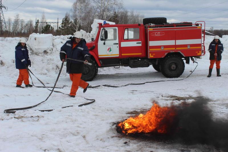 Командно-штабная тренировка по ликвидации природного пожара в окрестностях деревни Киргизка Октябрьского района г. Томска (18 марта 2020 года)