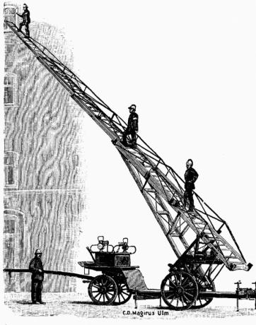 8 апреля 1766 года была запатентована первая в мире пожарная лестница