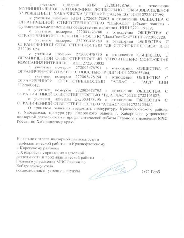 Распоряжение ОНПР по Краснофлотскому и Кировскому районам г. Хабаровск от 15.04.2020 № 35