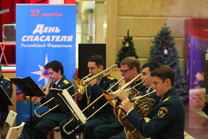 27 декабря, выступление Показательного оркестра МЧС России в Москве